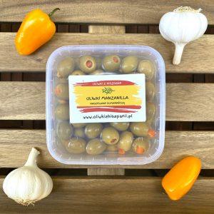 Oliwki Manzanilla nadziewane pomarańczą